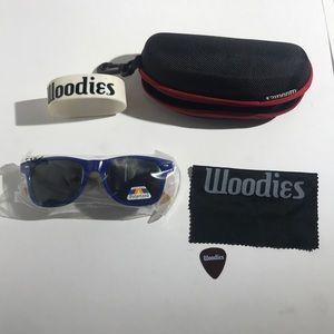 Woodies Blue Bamboo Polarized Sunglasses